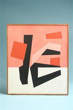 Painting, by my old friend Henning Gjedde, Denmark. 1958.