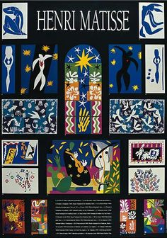 Collage of famous gouaches by Matisse poster by Henri Matisse...I need this poster....and to get it framed...I Love Henri Matisse!