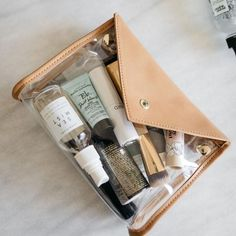 Cosmetic bags, travel toiletry bags, jewelry cases, garment bags, and shoe bags by Hudson+Bleecker. Travel Cosmetic Bags, Travel Toiletry Bag, Travel Toiletries, Packing Jewelry, Packing Tips For Travel, Travel Hacks, Travel Essentials, Travel Ideas, Luxury Purses