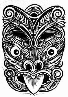Danny Robinson Tattoo Fresh Maori Mask Things for Camp Tiki Tattoo, Hawaiianisches Tattoo, Samoan Tattoo, God Tattoos, Tattoo Maori, Tattoo Set, Alaska Tattoo, Polynesian Tattoo Designs, Maori Designs