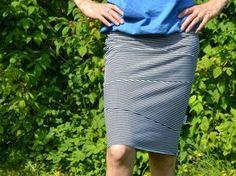 Pruhovaná úpletová sukně - návod