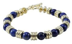Egyptian 9mm Gold Lapis Lazuli Bracelet Hinky Imports. $24.99. Egyptian Style Lapis Lazuli Bracelet. Macrame Strand. 100% Handmade. Adjustable Size: One Size Fits All. Made from Genuine Lapis Lazuli and Alloy