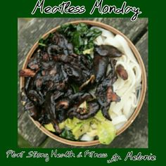 Meatless Monday: Teriyaki Shitake Bowl.  I will leave out the oil and steam fry vs. Stir fry.  Perfect recipe for mushrooms from Shrooms2Grow  http://invegetableswetrust.com/ #cleaneating #healthyeating #plantbased #meatlessmonday #invegetableswetrust #shitakemushrooms #shrooms2grow #plantstronghealthandfitnesswithmelanie
