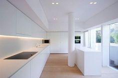 modern white minimal interior design kitchen