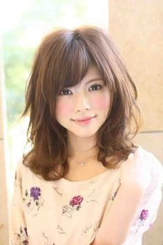 so pretty! we have the same hair color, except I'm not Asian and my cheek color is natural and not blush