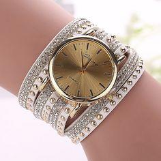 Aliexpress.com: Comprar Moda Casual ginebra mujeres del reloj reloj de oro reloj pulsera señora de cuarzo de llavero de lujo fiable proveedores en aiwise