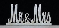 Mr and mrs sign for top table or cake