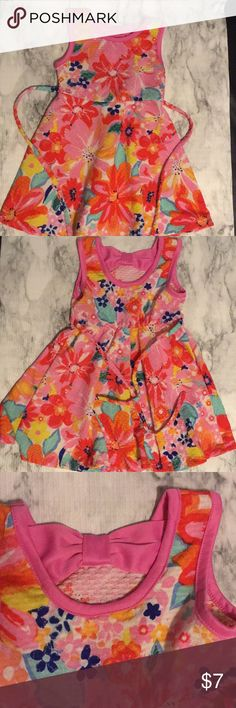 🔴5 for 20.00 🦋YoungLand Floral 2T sundress Floral 2T sundress with pink bow at the back.  Elastic waist and tie back.  EUC 97% polyester  3% spandex Red dots 🔴 are 5 for 20.00 add all to a bundle and I will send u an offer. Youngland Dresses Casual