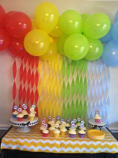 Gillian's Brown Bear birthday party backdrop! Thanks, Pinterest!