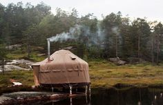 the yurt life>>>>check more, built by my pals alex & selene:http://www.lfy.ca/  doandhope