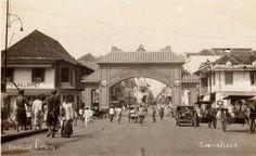 Jembatan Merah - Kembang Jepun 1930 Dutch East Indies, Surabaya, Old Pictures, Jakarta, Java, The Past, Street View, History, Image