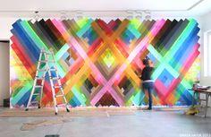 awesome wall art... By Maya Hayuk