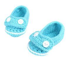 Bigood Strickschuh One Size Strick Schuh Baby Unisex süße Muster 11cm Knopf Deko Blau - http://on-line-kaufen.de/bigood/bigood-strickschuh-one-size-strick-schuh-baby-13