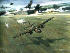 Image detail for -World War II Air Combat Aircraft Painting Wallpaper 39 Air Combat Art ...