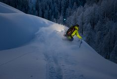 Skiing in the last light of the day by Christoph Oberschneider - Photo 106849709 - 500px