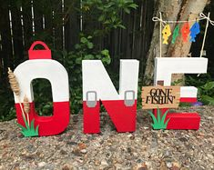 Excited to share this item from my shop: The big one fishing party ONE letters , fishing party , photo props Boys First Birthday Party Ideas, Birthday Themes For Boys, First Birthday Decorations, Baby Boy 1st Birthday, Boy Birthday Parties, Thomas Birthday, Birthday Banners, Third Birthday, Birthday Gifts