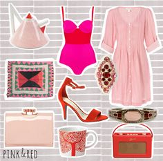 colour combo love - red and pink | cardboardcities - illustration, fashion + lifestyle