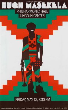Milton Glaser | Store | Hugh Masekela Philharmonic Hal, 1972 | Although I did this in the early seventies, it still has a lot of the sixties in it.