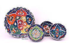 Keramikschale-Emotion-4Set-orientblau von Kult-Deko auf DaWanda.com