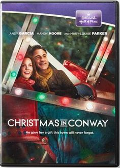 Hallmark Hall of Fame DVD Christmas in Conway starring Andy Garcia, Mandy Moore, and Mary Louise Parker. To surprise his ailing wife for Christmas, Duncan Mayor New Hallmark Christmas Movies, Xmas Movies, Christmas Movie Night, Hallmark Holidays, Christmas Shows, Hallmark Movies, Family Movies, Christmas Music, Christmas Love