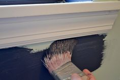 Painting Straight Lines Without Painter's Tape. So THIS is how to do it. I hate painters tape.