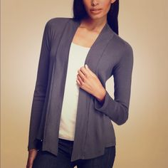 Splendid *BROWN* Cardigan **Cardigan is BROWN* First pic is to show style. Open front, drapey t-shirt material. Perfect for layering on spring/summer nights. Splendid Tops