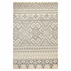 artfully crafted rug, showcasing a Southwestern-inspired motif in ivory and silver. 46.95 Jand Main   Product: RugConstruction Material: 100% PolypropyleneColor: Ivory and silverFeatures:  Power-loomedMade in Turkey  Note: Please be aware that actual colors may vary from those shown on your screen. Accent rugs may also not show the entire pattern that the corresponding area rugs have.Cleaning and Care: Professional cleaning ...