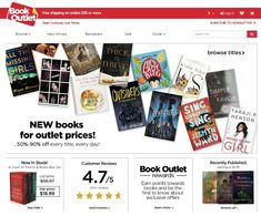 12 Bookstore Affiliate Programs to Empower Your Blog | Time Rich Worry Free Book Outlet, Subscribe Newsletter, Reading, Books, Kids, Free, Young Children, Libros, Boys