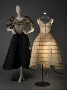 "Charles James deconstructed exhibit - ""Clover"" Evening Dress & undergarment Charles James  ca. 1948,"