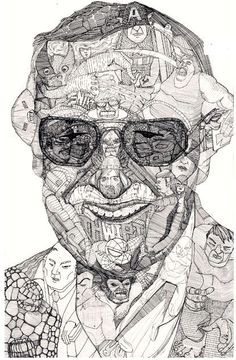 Jason Sho Green's outstanding pen and ink artwork tribute to Marvel Comic's Master, Stan Lee.