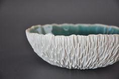 Cerulean Crackle Large Geode Ceramic Bowl  by elementclaystudio, $150.00