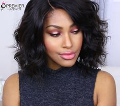 "❤️#WigReview @beautybycarla you look so beautiful   wig info :Permanent Root To Tip Waves,4.5"" Deep C Side Part Bob Style,Pre-Plucked Lace Front Wig ,SKU:CLFW-62  http://www.premierlacewigs.com/permanent-root-to-tip-waves-deep-c-side-part-bob-lace-front-wig.html #premierlacewigs #wigs #humanhairwigs #bobstyle #indianremyhair #beauty #wavyhair #lacefrontwigs #lacewigs #permanentwave #roottotipwave #hair"
