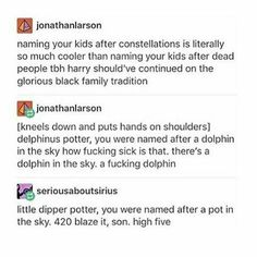 i'm named after a constellation and i'm slightly offended