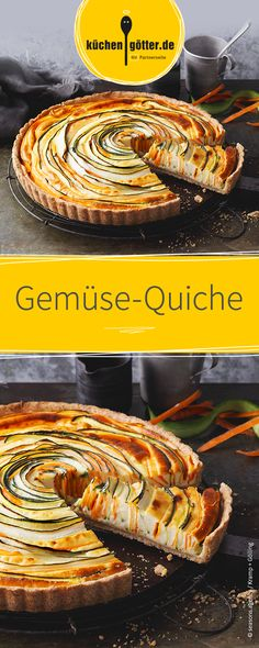 Sommerliche Quiche mit Zucchini oder individuell mit anderem Gemüse.