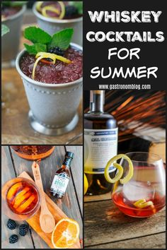 Whiskey cocktails for the summertime! Juleps, Sazeracs, Old Fashioned, and more! Great summer flavors with berries, lemon and they are all refreshing! Cheers!  #cocktails #whiskey #bourbon #cocktail #summer