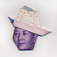 MONEYGAMI - face origami with bills