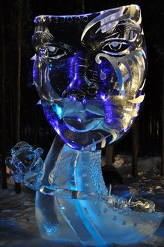 Beautiful face. World ice art championships- Fairbanks, AK 2011