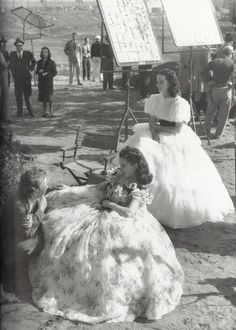 Vivien Leigh on the set