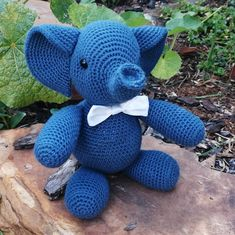 This Ellie is all ready to make a good first impression with his bowtie. Handmade crocheted soft you perfect for as a baby shower gift or child's birthday present. Pattern by Jess Huff, made by Speckled Tortoise You Are Perfect, Birthday Presents, Tortoise, Baby Shower Gifts, Dinosaur Stuffed Animal, Elephant, Toys, Children, Pattern