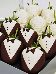 Great Unexpected Gift for the Bride & Groom at a Pre-Wedding Party or the Host & Hostess of any Event to Snack On After It's All Over!
