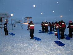 Friends from Russia n the Saariselkä - Finland's longest toboggan slope (3) | Saariselkä.   #saariselkä #saariselka #saariselankeskusvaraamo #lapland #astueramaahan #stepintothewilderness #saariselkaMTB http://www.saariselka.com/treklife