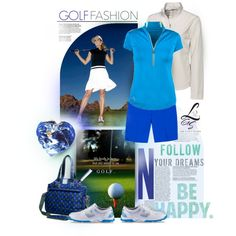 """""""Golf Fashion"""" by lorisgolfshoppe on Polyvore Re-pinned by www.apebrushes.com. Greens brushes that really work!"""