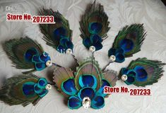Wholesale Peacock Feather Hair Clip Bridal Fascinator, wedding hair accessories, bridal 6 bridesmaids peacock bobby pins 1set, Free shipping, $39.33-45.6/Set | DHgate