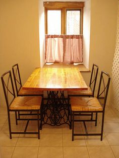 antique sewing machine base for a table. beautiful ideas. Home Design Ideas