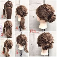 Hair inspiration is when we go crazy over chic wedding hairstyles for long hair. Up Dos For Medium Hair, Medium Hair Styles, Curly Hair Styles, Updos For Medium Length Hair Tutorial, Medium Length Hair Updos, Casual Updos For Medium Hair, Work Hairstyles, Pretty Hairstyles, Wedding Hairstyles