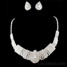 Graceful New Style Rhinestone Wedding Jewelry Sets (Including Necklace, and Earrings) Jewelry Sets- ericdress.com 10909666