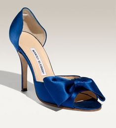 www.manoloblahnik.com Every girl should have her very own blue silk shoe from Manolo :)