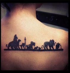 Lion king tattoo, matching tattoo