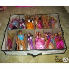 Barbie storage organization