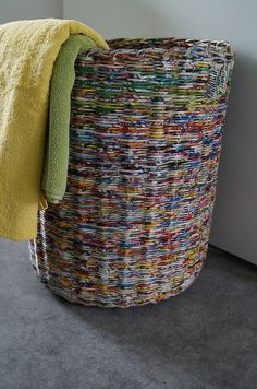 Laundry Basket | Calabashbazaar.blogspot.fr/2014/04/na Prani Amazing Ideas